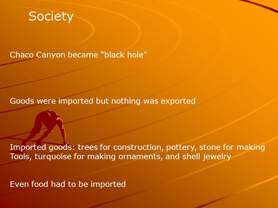 Society Chaco Canyon became black hole