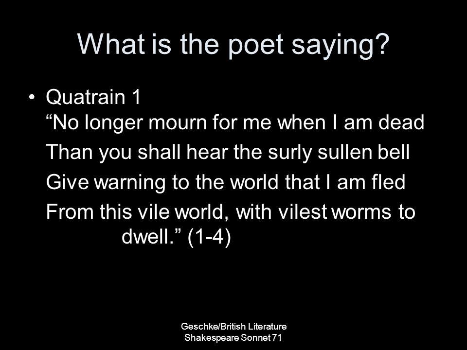 Geschke/British Literature Shakespeare Sonnet 71