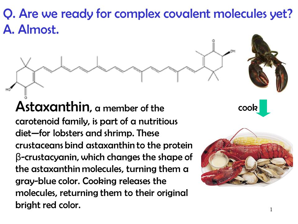 Q. Are we ready for complex covalent molecules yet A. Almost.