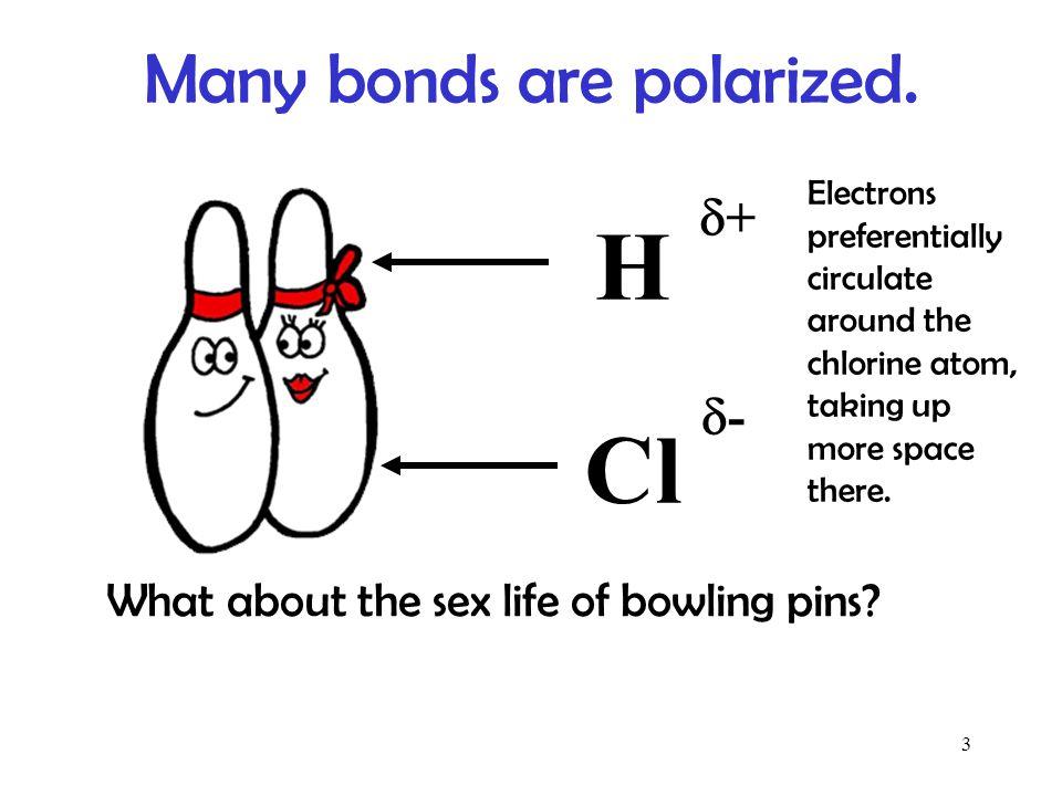 Many bonds are polarized.