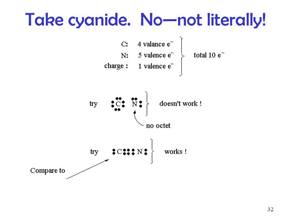 Take cyanide. No—not literally!