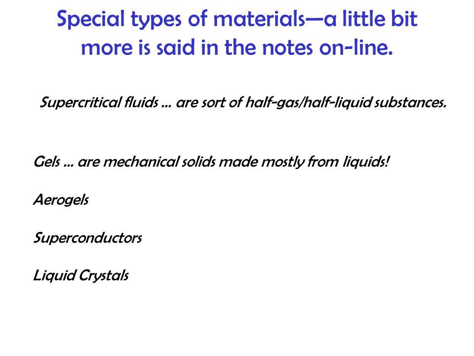 Supercritical fluids ... are sort of half-gas/half-liquid substances.