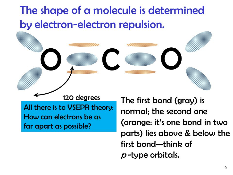 The shape of a molecule is determined by electron-electron repulsion.
