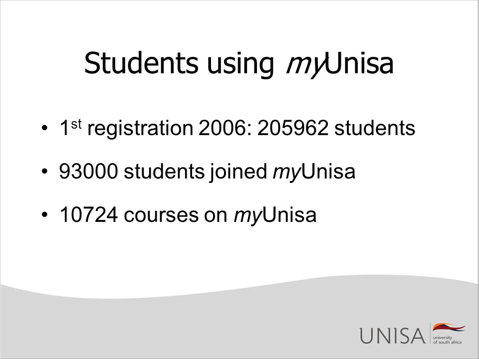 Students using myUnisa