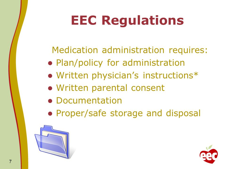Medication administration requires: