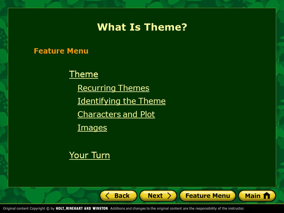 What Is Theme Theme Recurring Themes Identifying the Theme