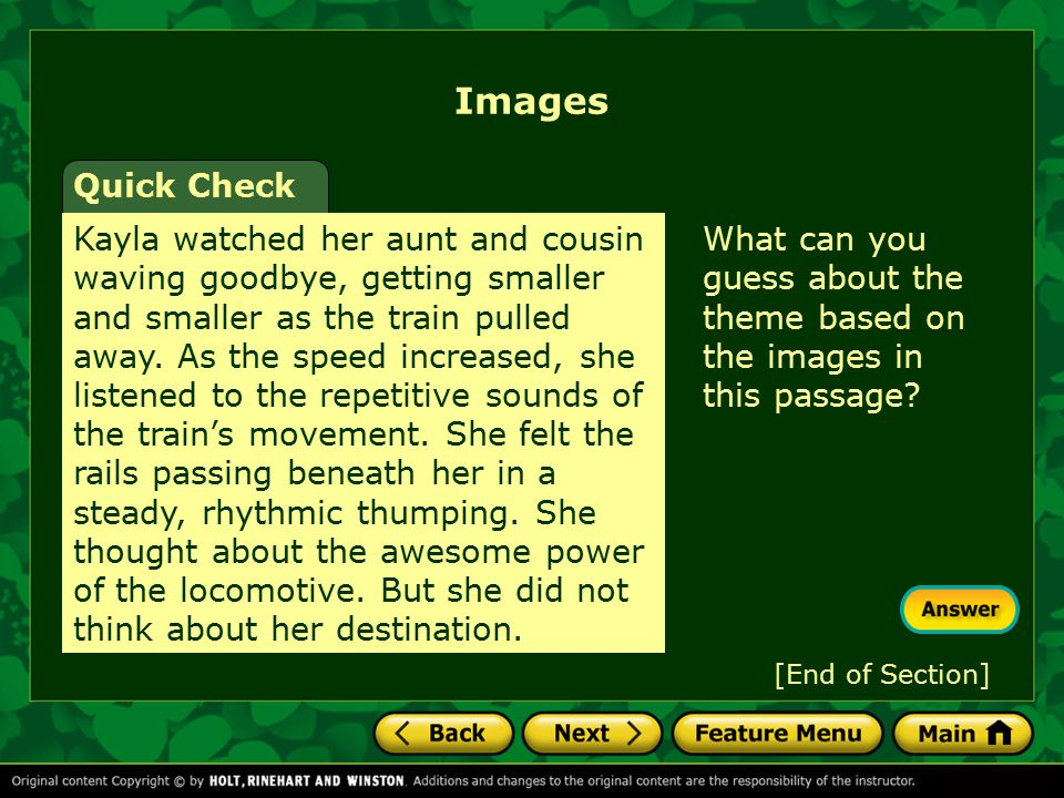 Images Quick Check.