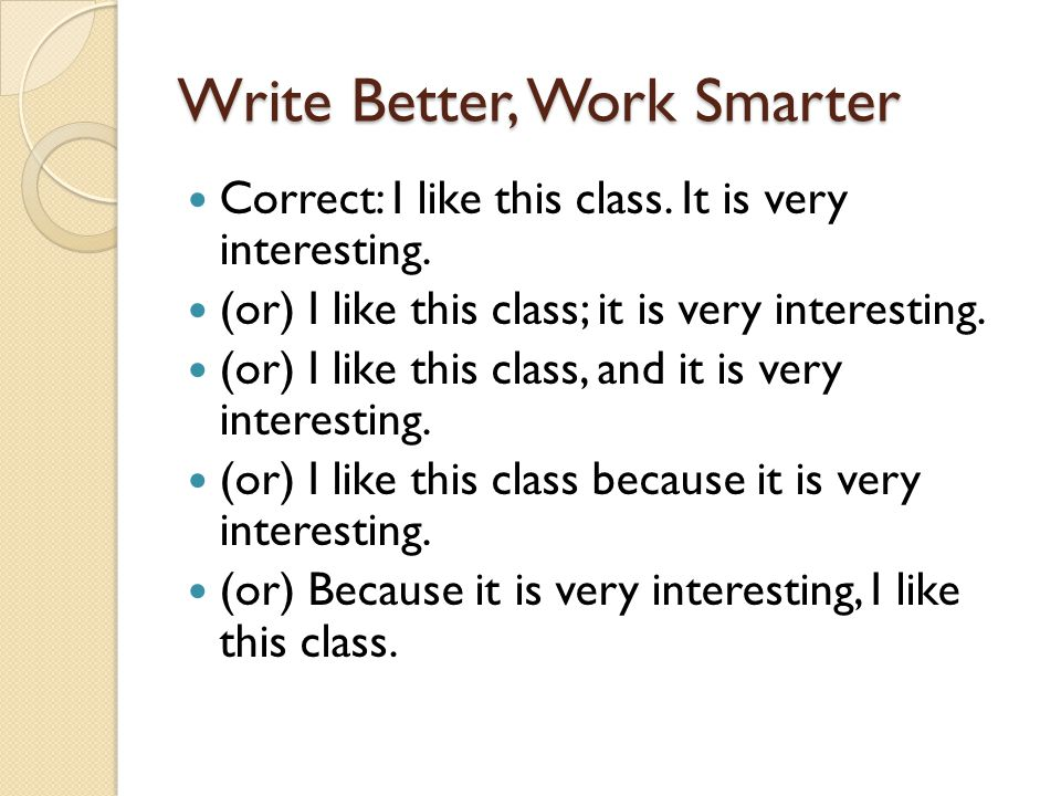 Write Better, Work Smarter