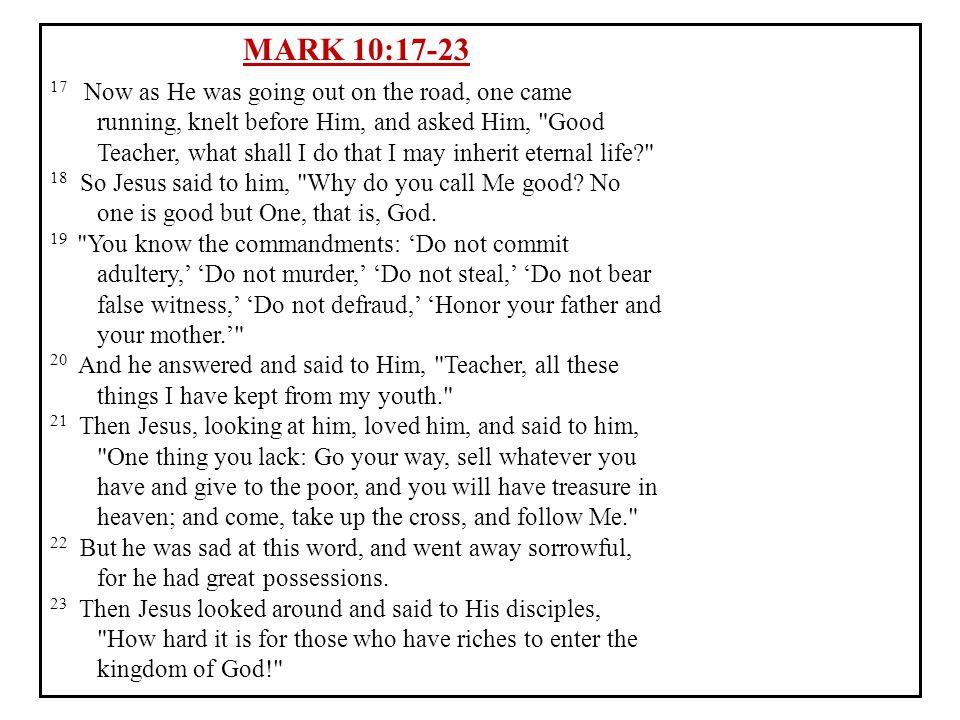 MARK 10:17-23