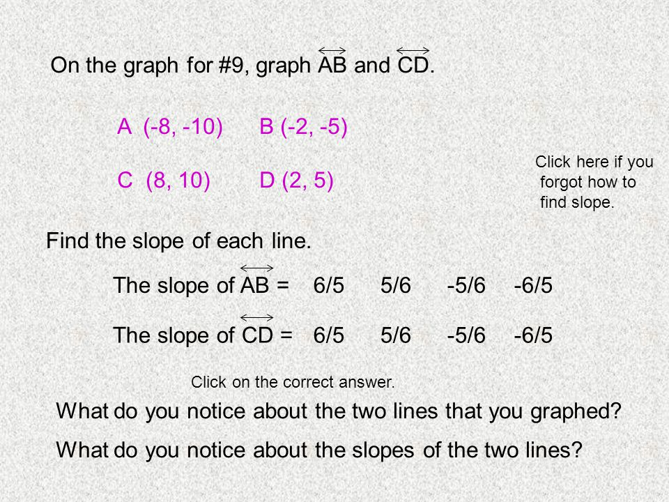 On the graph for #9, graph AB and CD.