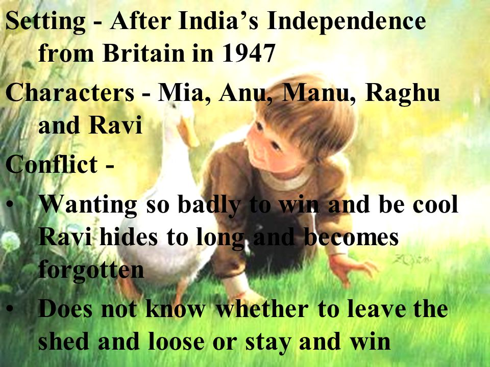 Setting - After India's Independence from Britain in 1947