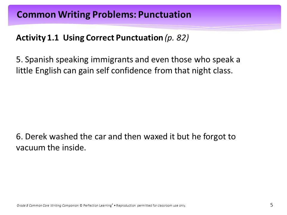 Activity 1.1 Using Correct Punctuation (p. 82)