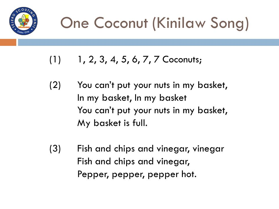 One Coconut (Kinilaw Song)