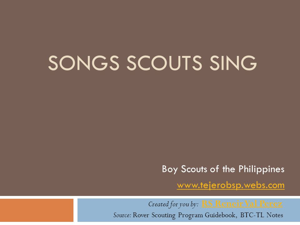 Boy Scouts of the Philippines www.tejerobsp.webs.com