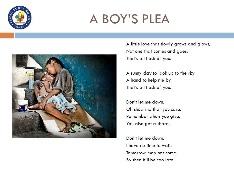 A BOY'S PLEA