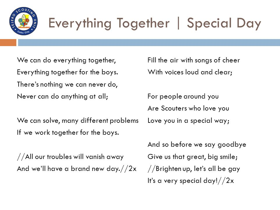 Everything Together | Special Day