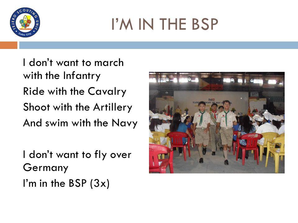 I'M IN THE BSP