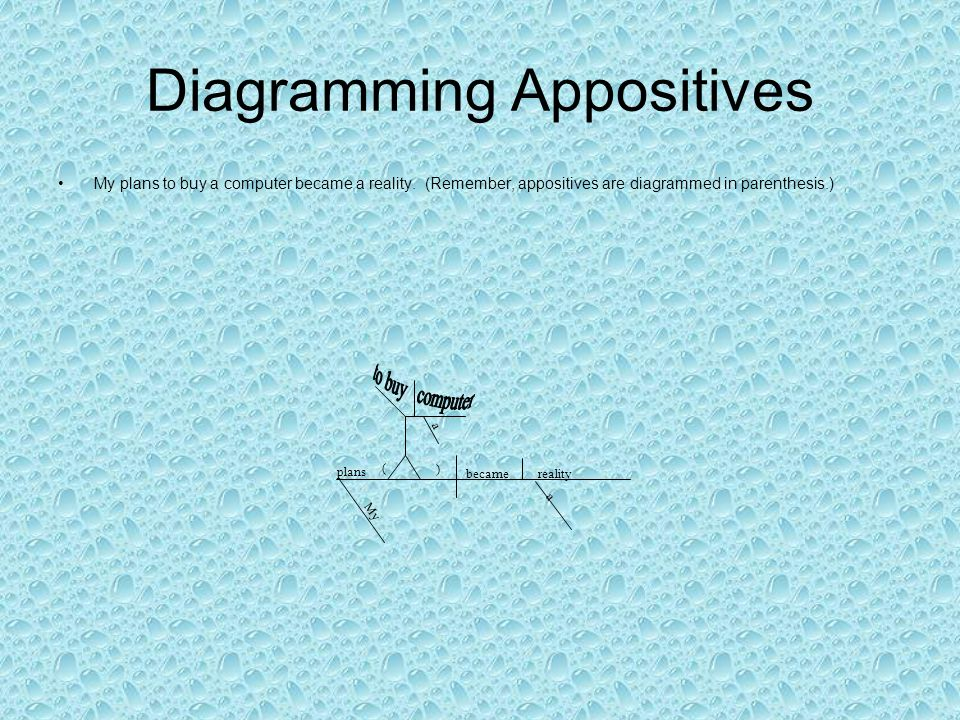Diagramming Appositives