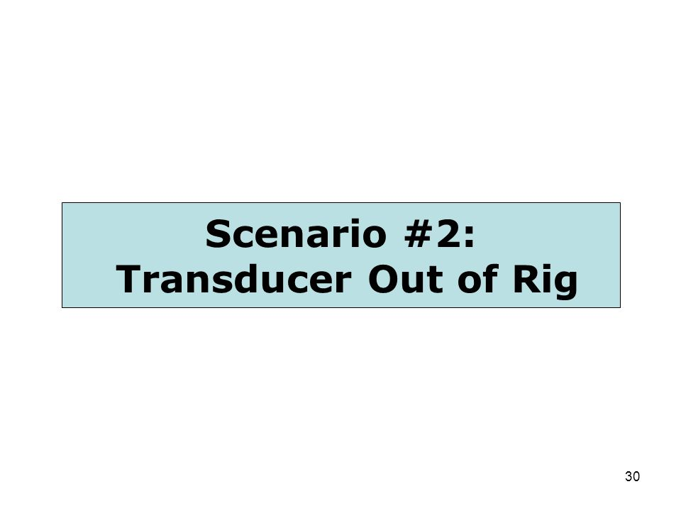 Scenario #2: Transducer Out of Rig