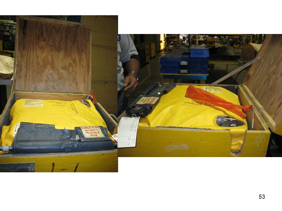 Here are two photographs of the door slide assembly packed in a storage box.