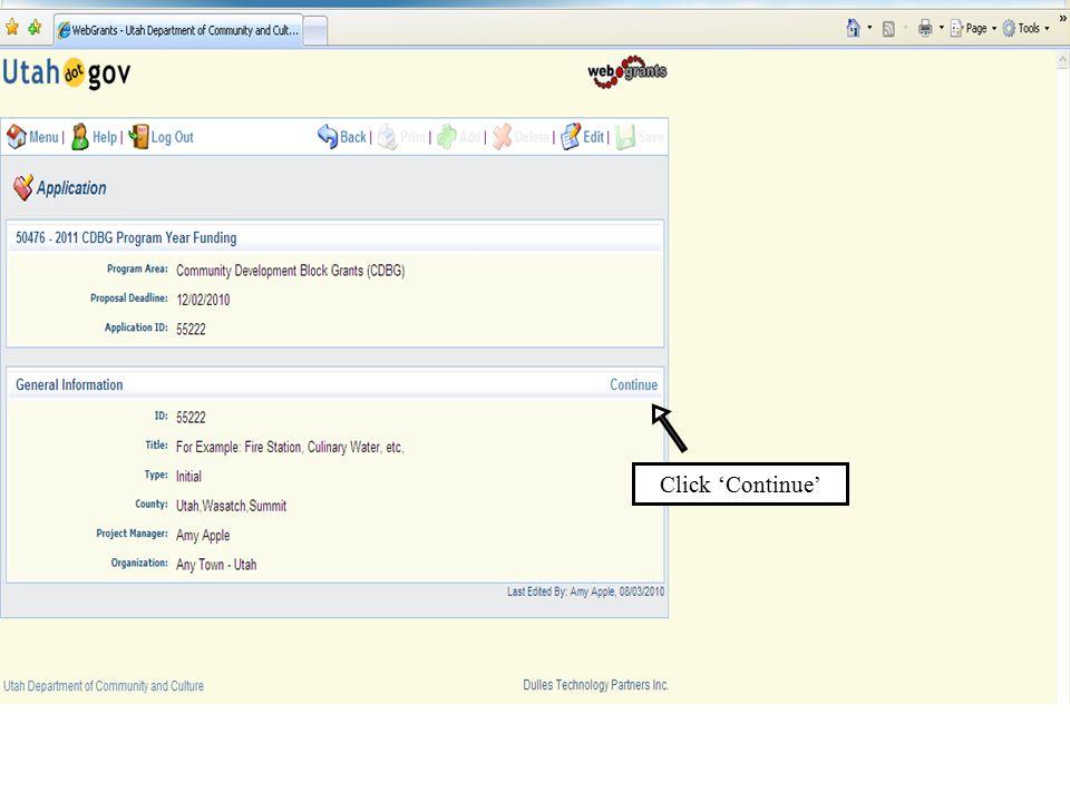 Click 'Continue'