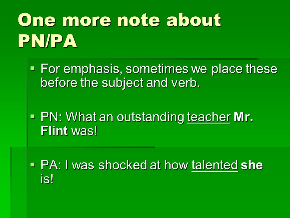 One more note about PN/PA