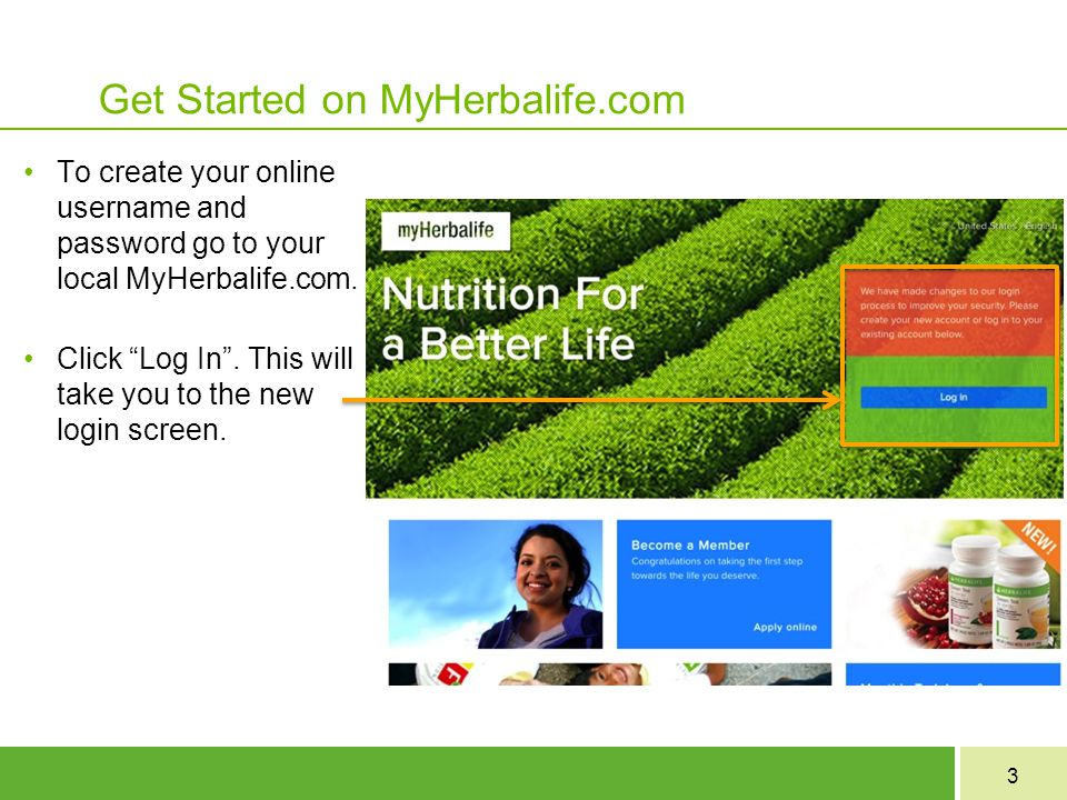 Get Started on MyHerbalife.com