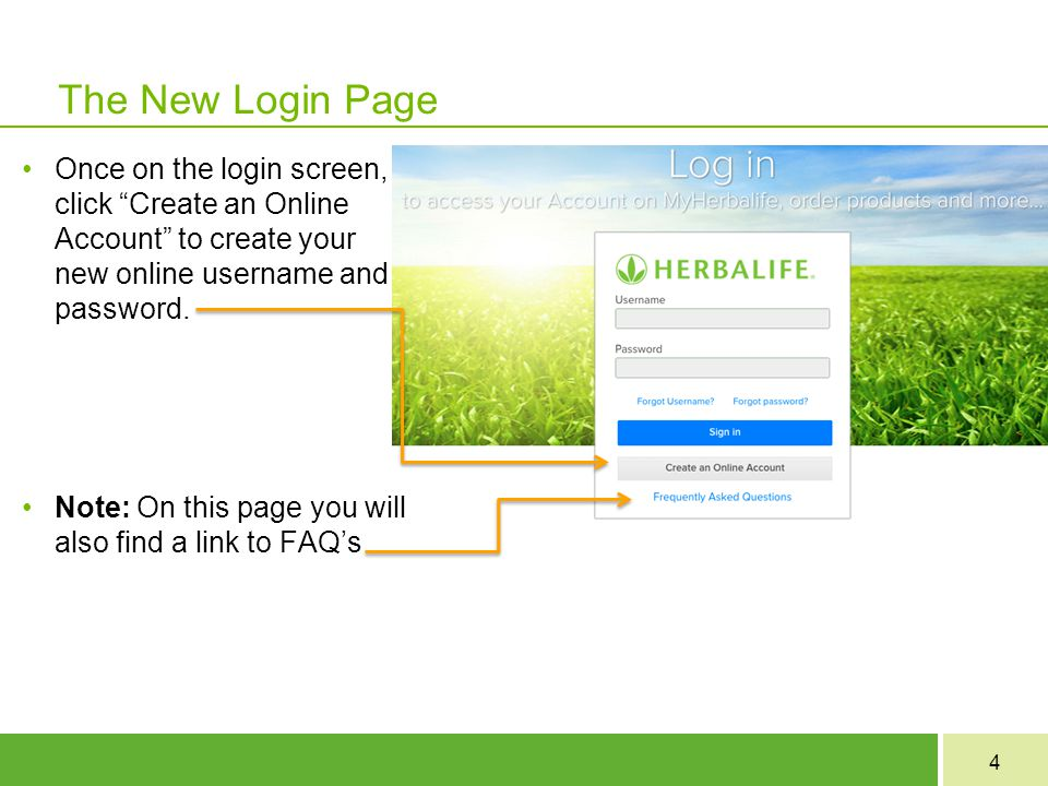 The New Login Page Once on the login screen, click Create an Online Account to create your new online username and password.