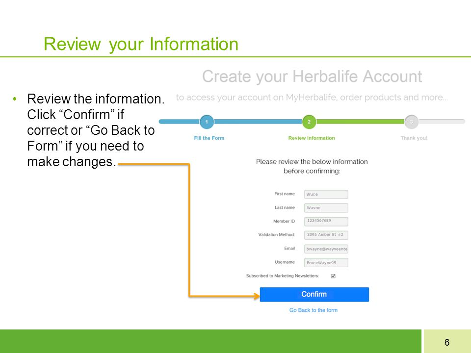 Review your Information