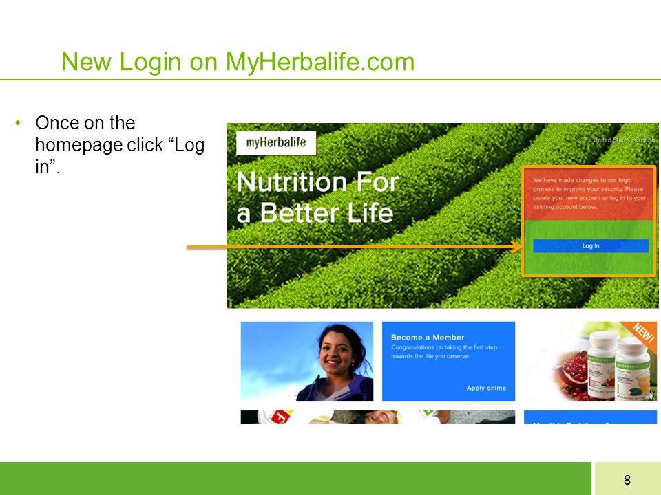 New Login on MyHerbalife.com
