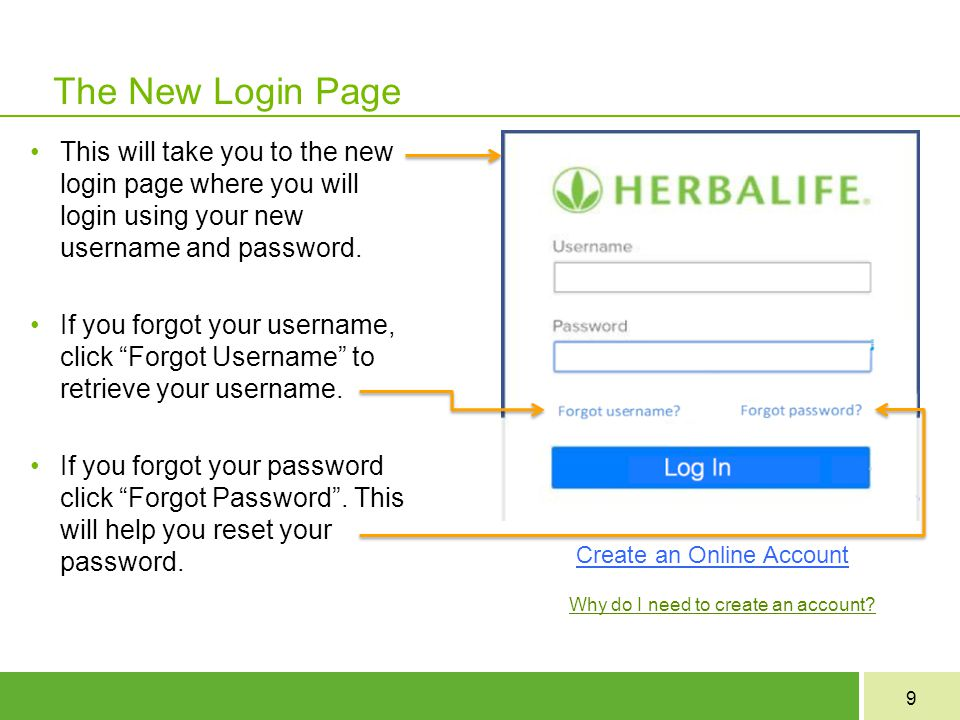 The New Login Page This will take you to the new login page where you will login using your new username and password.