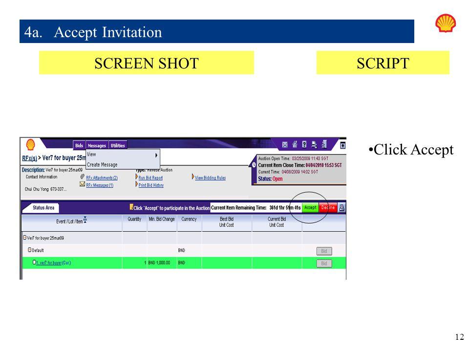 4a. Accept Invitation SCREEN SHOT SCRIPT Click Accept