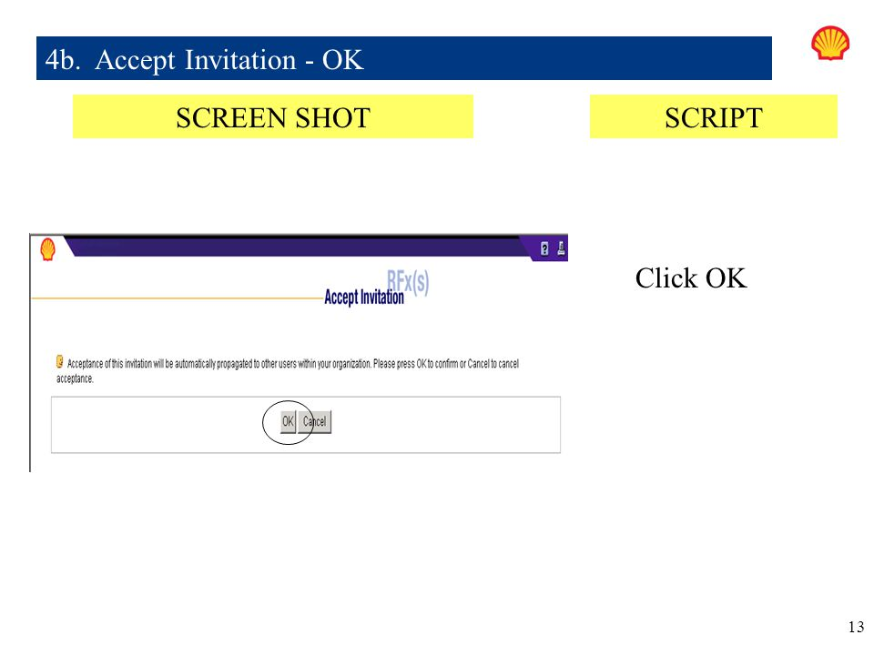 4b. Accept Invitation - OK