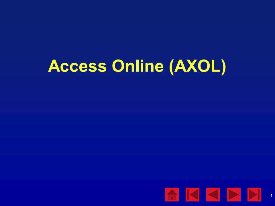 Access Online (AXOL)