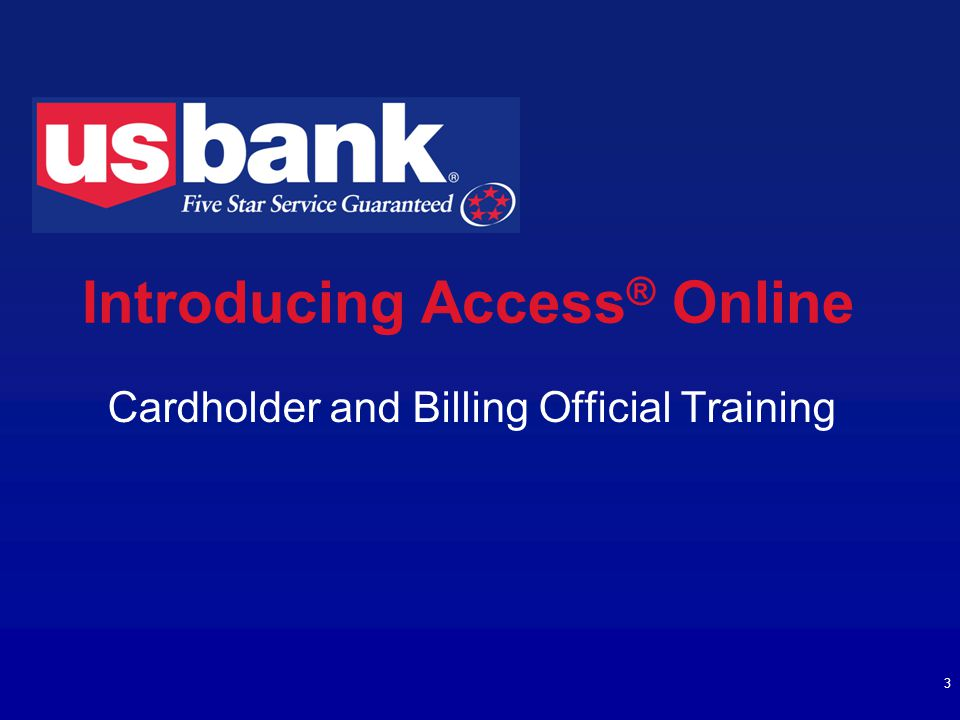 Introducing Access® Online