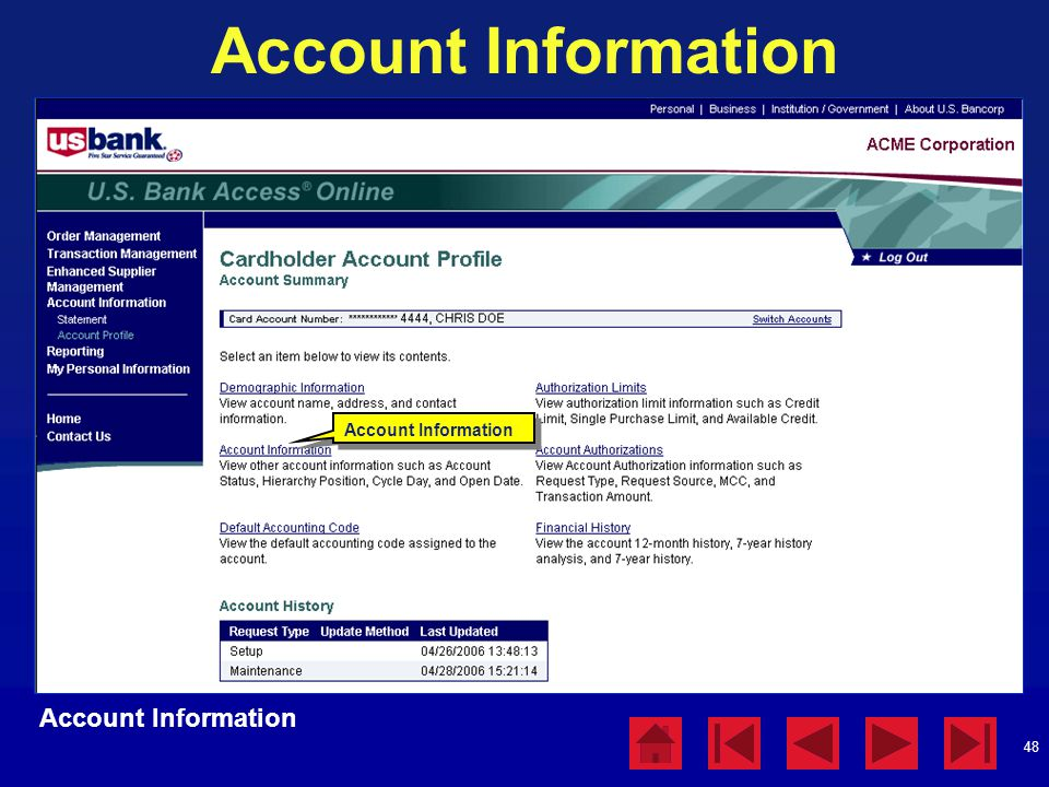 Account Information Account Information Account Information