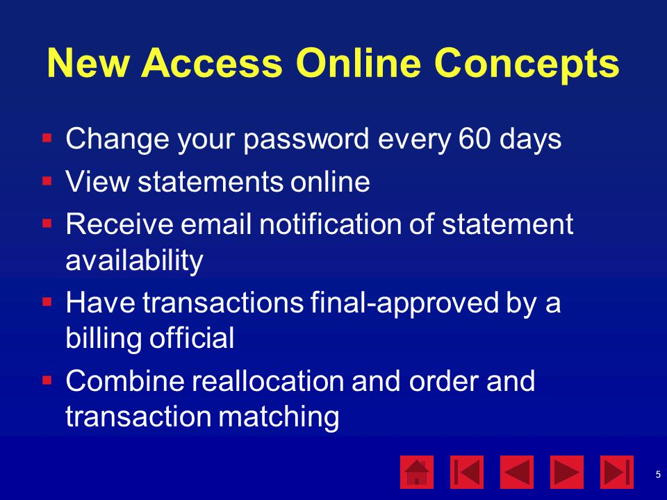 New Access Online Concepts