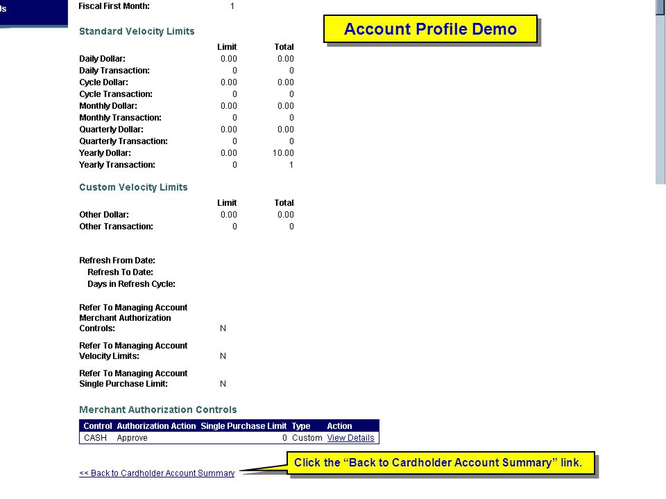Account Profile Demo Account Profile Demo