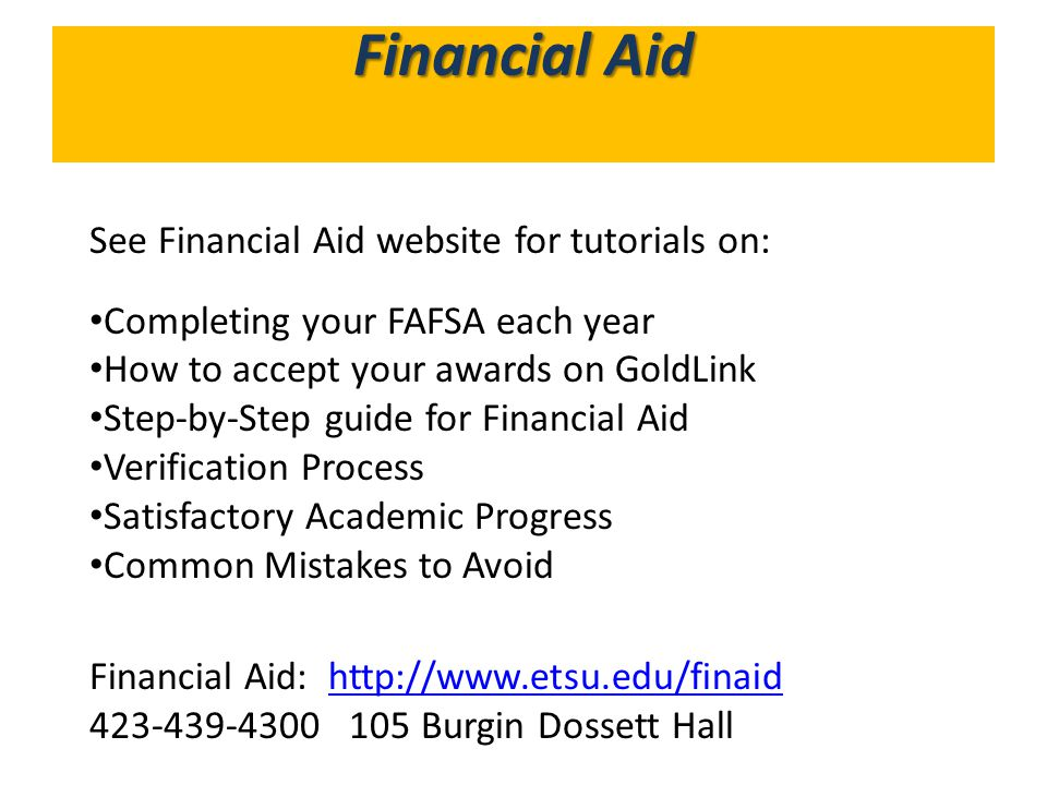 What's in GoldLink Financial Aid