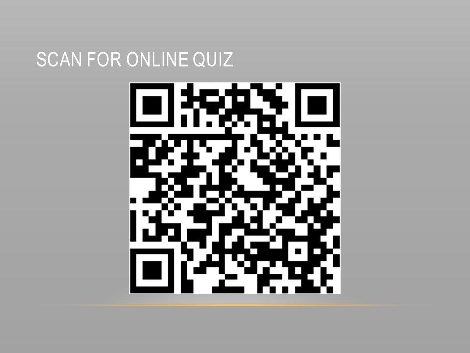 Scan for online quiz