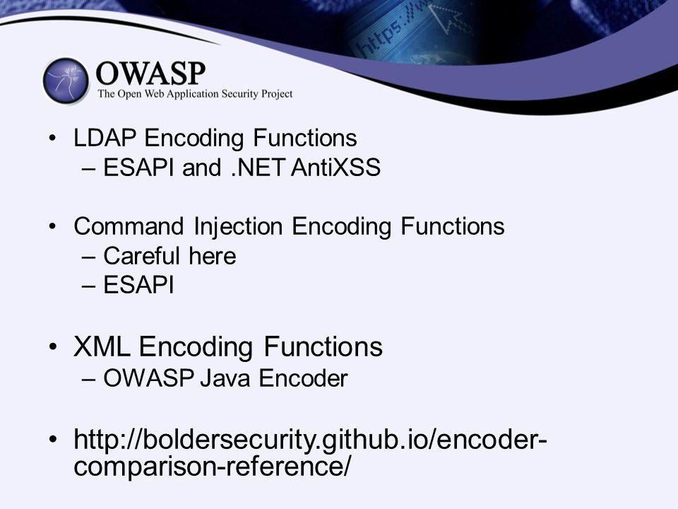 XML Encoding Functions