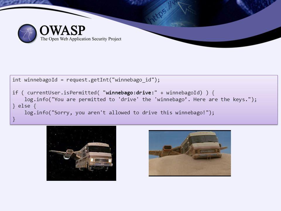 int winnebagoId = request.getInt( winnebago_id );