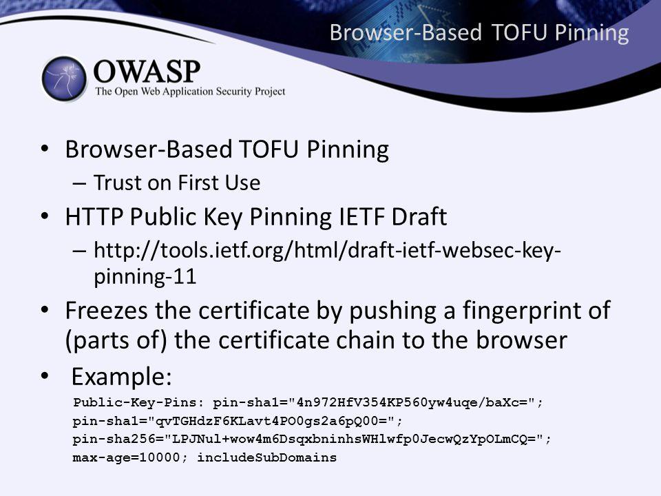 Browser-Based TOFU Pinning