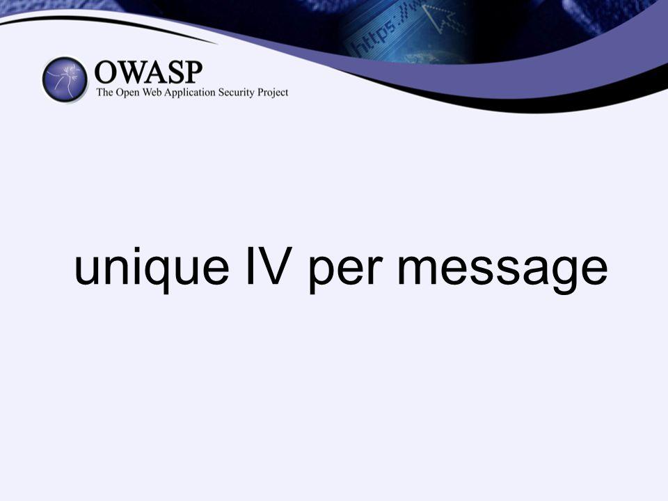 unique IV per message