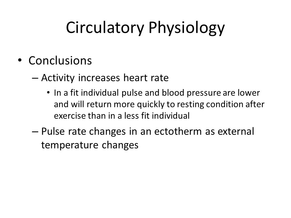 Circulatory Physiology