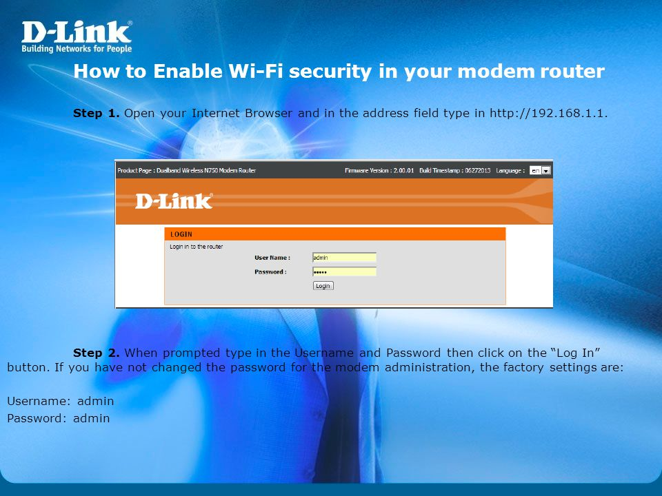 How to Enable Wi-Fi security in your modem router