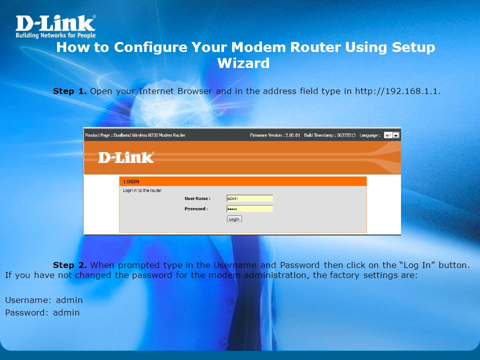 How to Configure Your Modem Router Using Setup Wizard