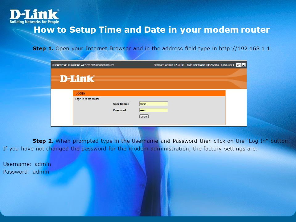 How to Setup Time and Date in your modem router