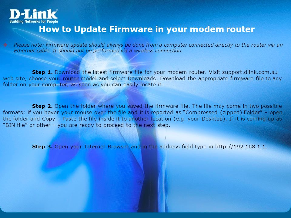 How to Update Firmware in your modem router