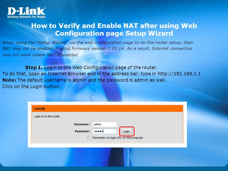 How to Verify and Enable NAT after using Web Configuration page Setup Wizard